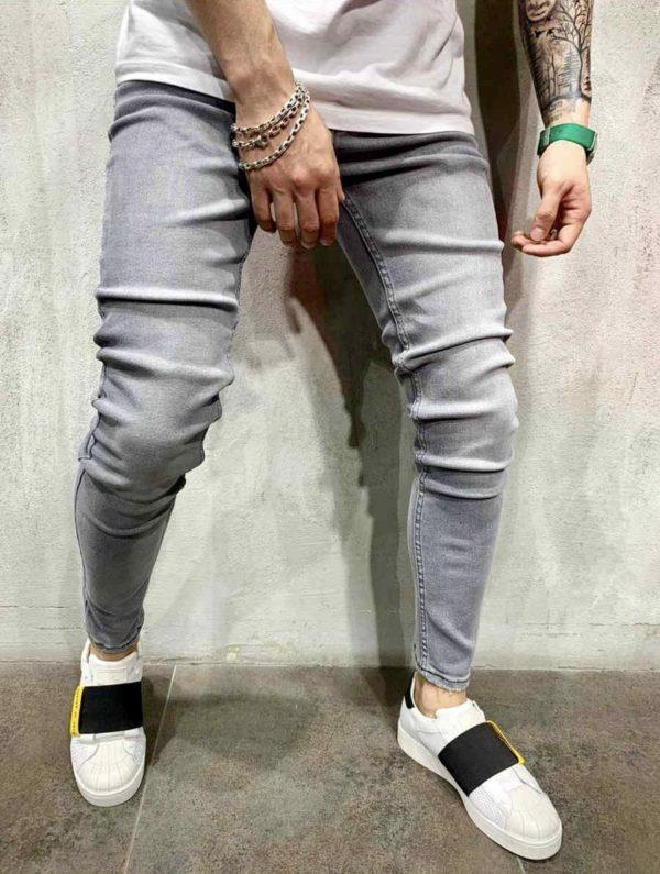 jean skinny gris homme 0076
