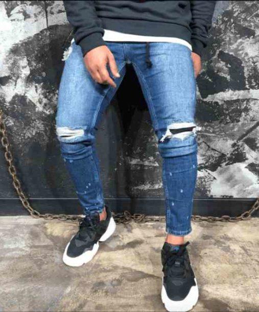 Jean Slim Bleu | jeans slim r8 | Mode urbaine