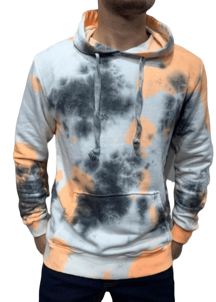 SWEAT PULL A CAPUCHE TIE AND DIE - HOMME