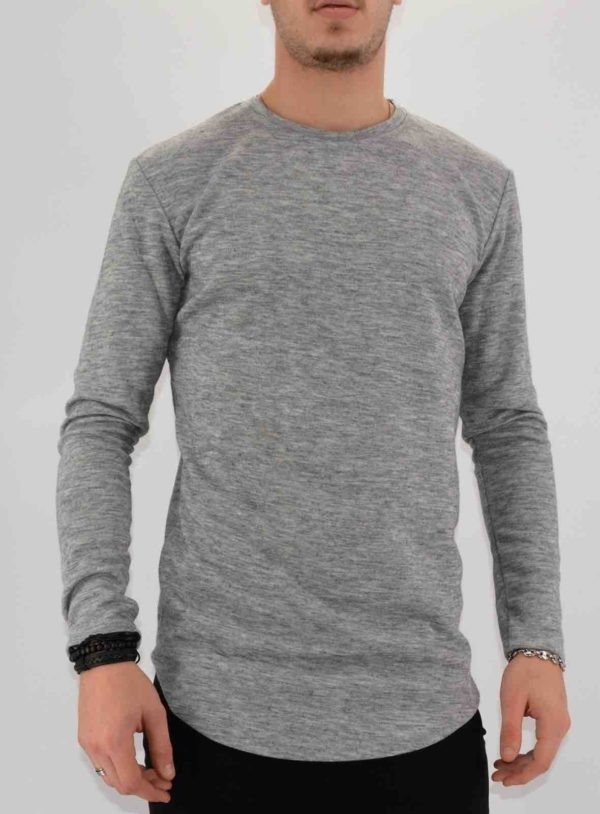 PULL OVERSIZE GRIS HOMME