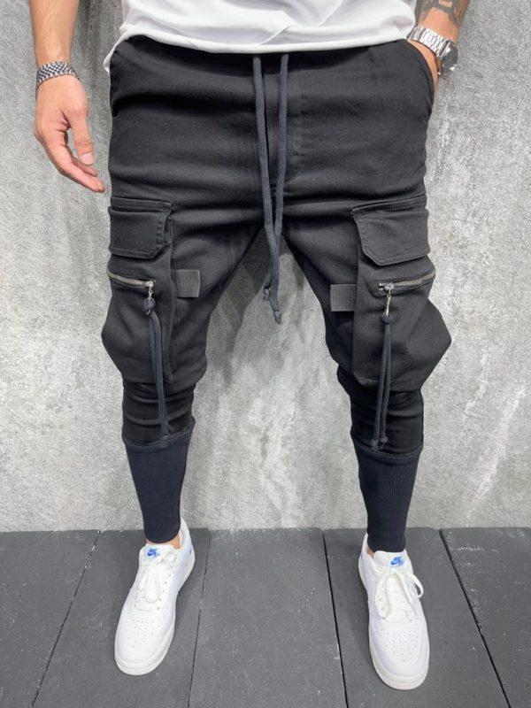 Pantalon cargo | Jogger pants noir | Mode urbaine