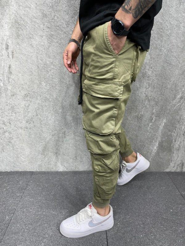 Pantalon cargo - Jogger pant kaki - Mode Urbaine
