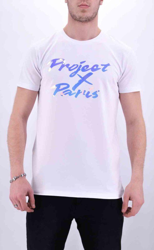 project x paris - T Shirt Projectxparis blanc réflectif mode urbaine