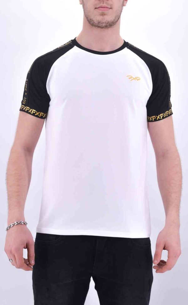 project x paris - T-Shirt blanc et or 2010084
