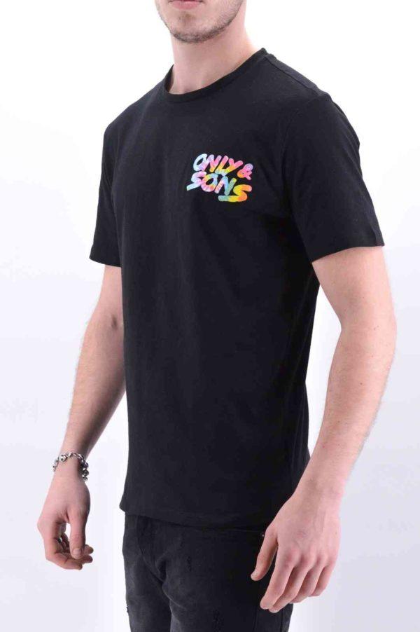 OnsBatik noir t-shirt only&sons