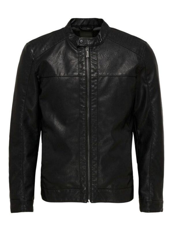 Only & sons - Veste cuir noire homme - Mode Urbaine