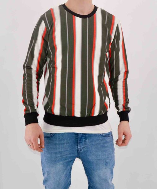 PULL SWEAT MULTICOLOR A RAYURES - MODE URBAINE