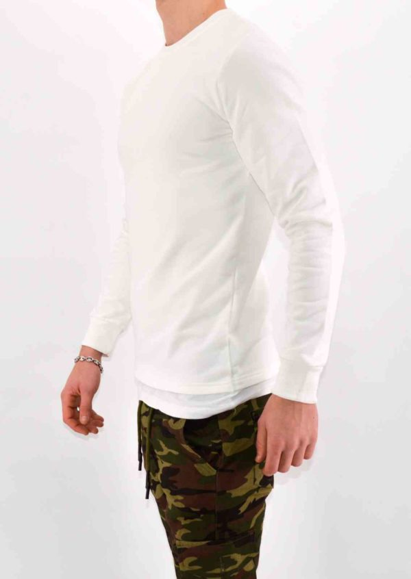 PULL HOMME - SWEAT BLANC HOMME