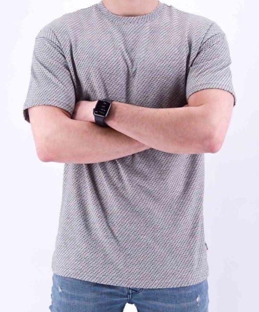T shirt gris à pois - Mode urbaine