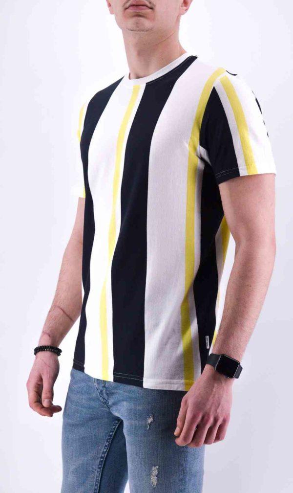 tee shirt à bande coloré homme - Only & Sons