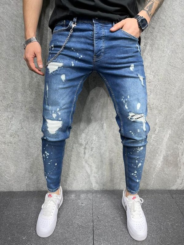 Jean slim homme - Jean slim destroy - Mode urbaine