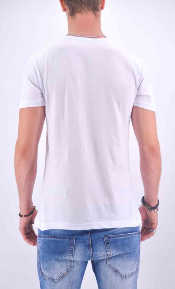 """TEE-SHIRT HOMME """"AMOUR IS FRENCH"""" BLANC ET ROUGE - Mode Urbaine AD-18 BR"""