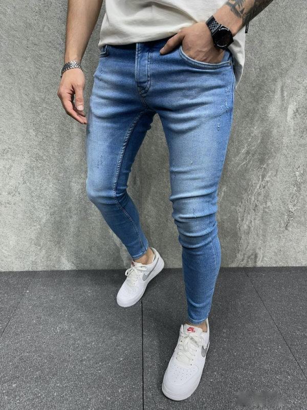 Jean skinny bleu délavé - Mode urbaine