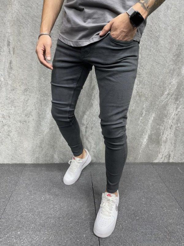 Jean stretch skinny gris - Mode urbaine
