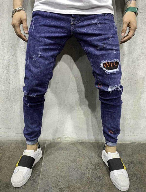 Nos jeans : jean regular destroy homme   Mode urbaine   39€