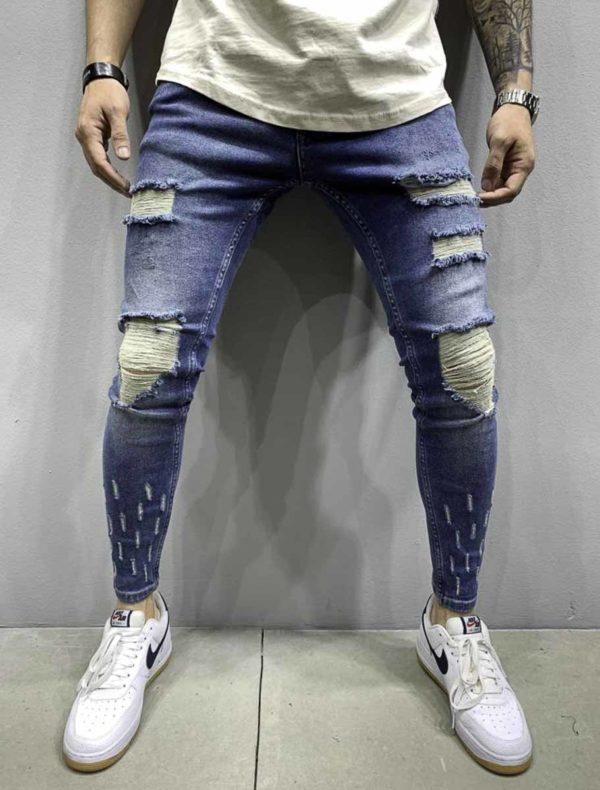 Jean slim destroy homme | Mode Urbaine