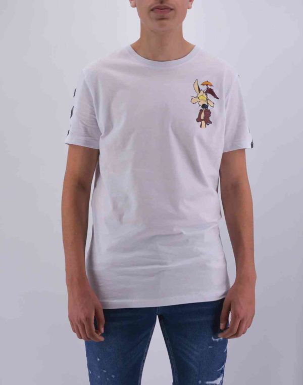 T SHIRT COYOTE BLANC OVERSIZE HOMME