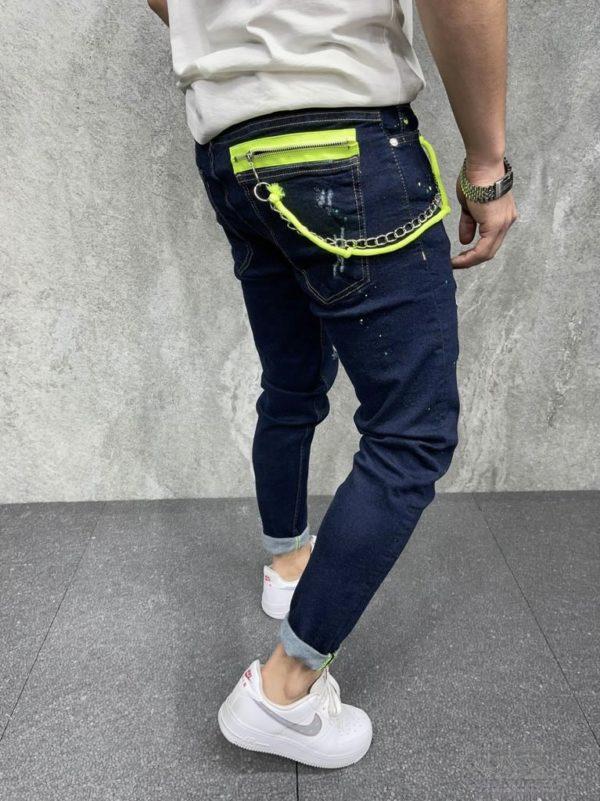 Jean homme bleu brute - Mode urbaine