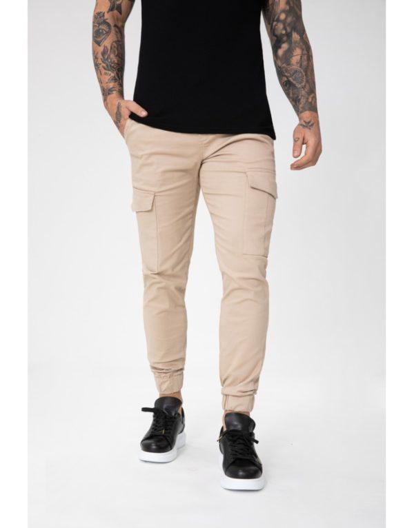 Pantalon jogger cargo beige - Mode urbaine