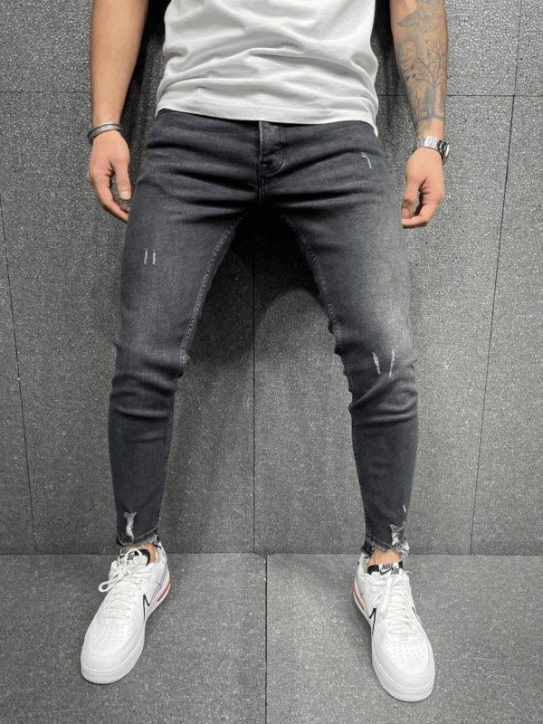 Jean slim noir destroy homme - Mode Urbaine