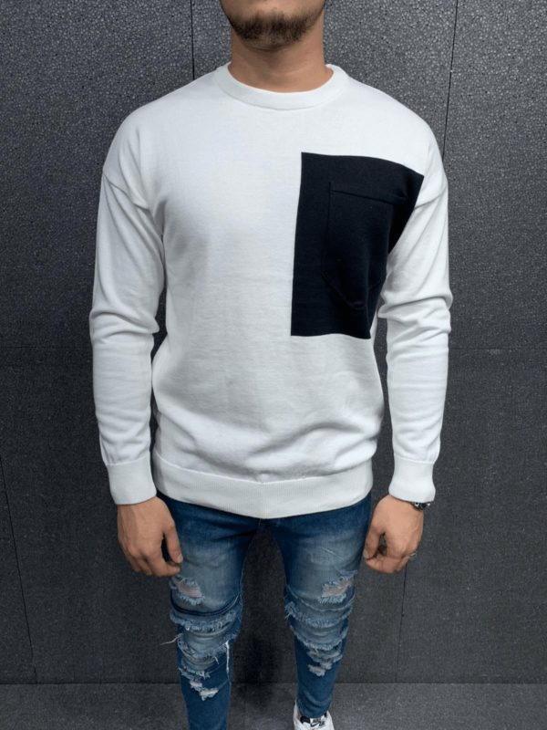 Pull blanc homme 7056