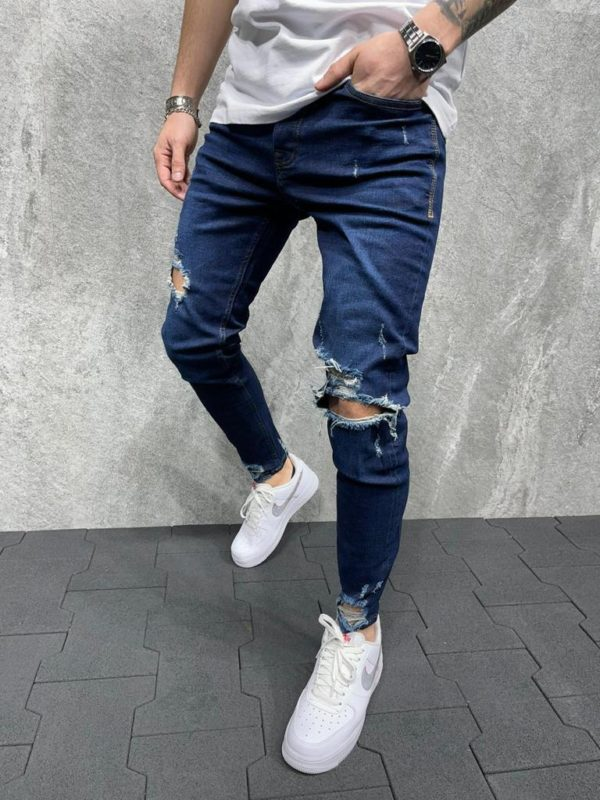Jean skinny bleu homme 10K/B6047.