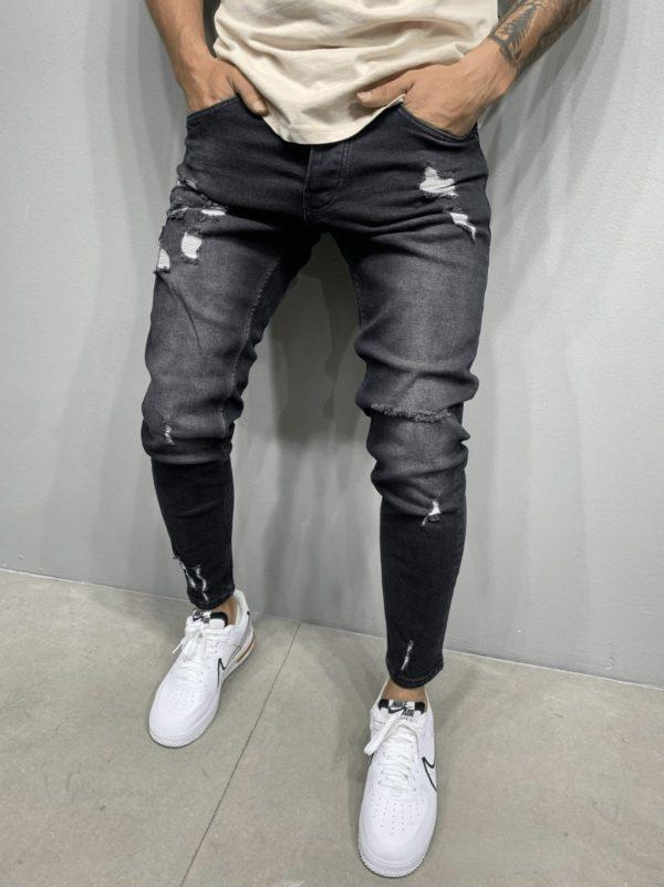 jeans skinny noir homme