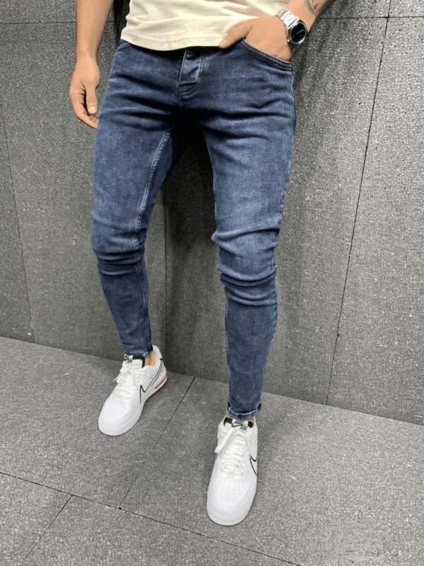 jeans slim bleu homme