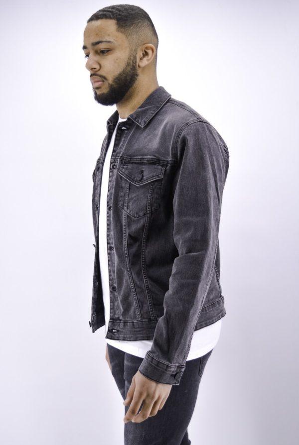 Veste en jean noire - Mode Urbaine