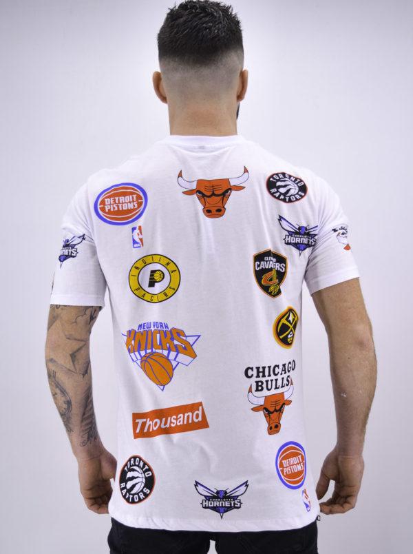 T shirt basket ball blanc - Mode urbaine