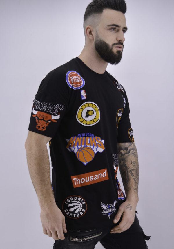 T shirt basket ball noir - Mode urbaine