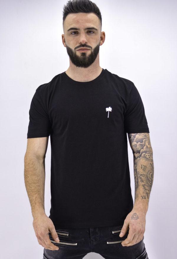 T shirt noir palmier - 2y Premium - Mode urbaine
