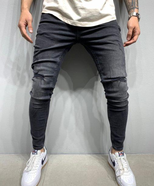 Jean skinny destroy noir homme - Mode urbaine