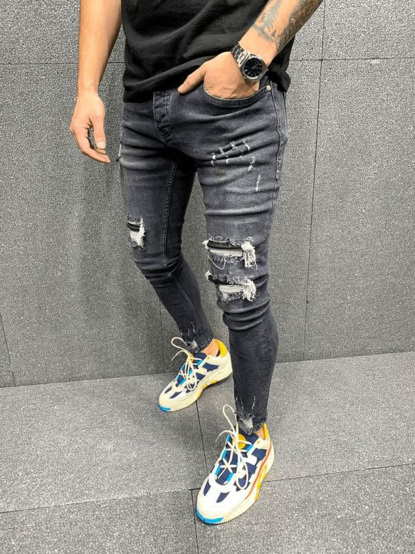 jean skinny noir destroy - Mode urbaine