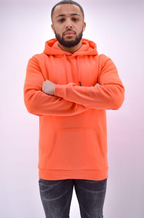 Sweat à capuche orange - Mode urbaine