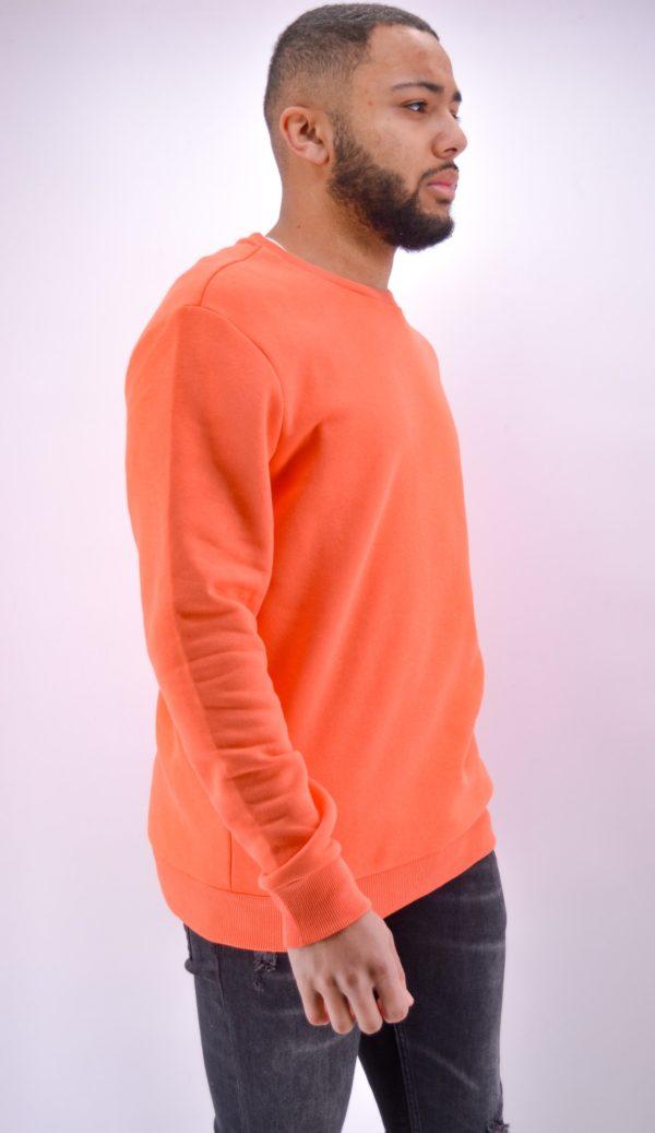 Pull homme - sweat orange homme - Mode urbaine