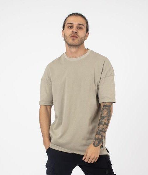 tee shirt oversize kaki