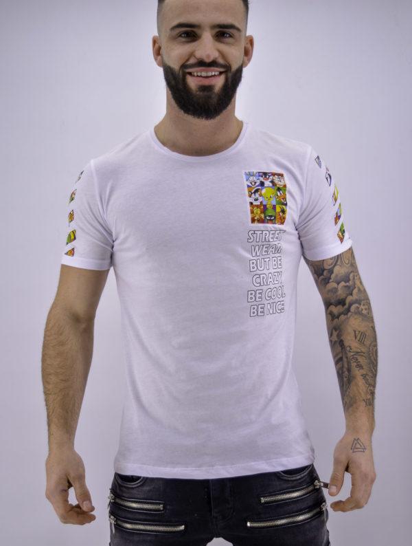 T shirt looney tunes blanc - Mode urbaine