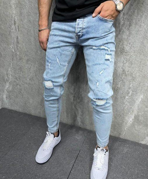 Jean skinny homme - Jean skinny destroy - Mode Urbaine