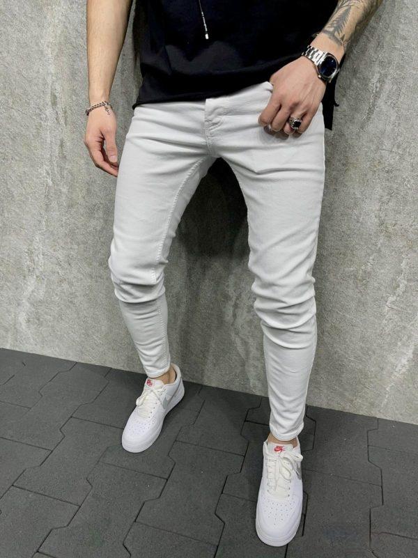 Jeans slim blanc homme - Jeans slim homme - Mode Urbaine