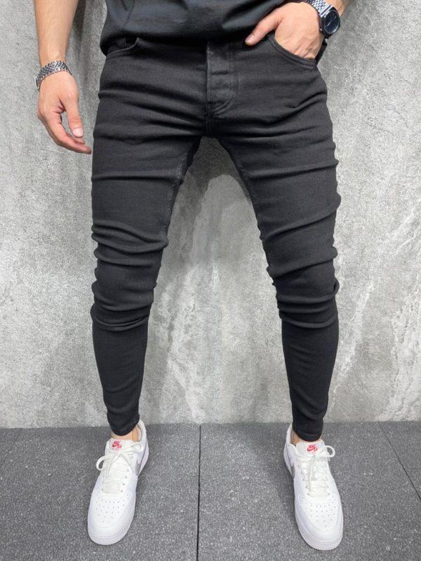 jean skinny noir homme b6482
