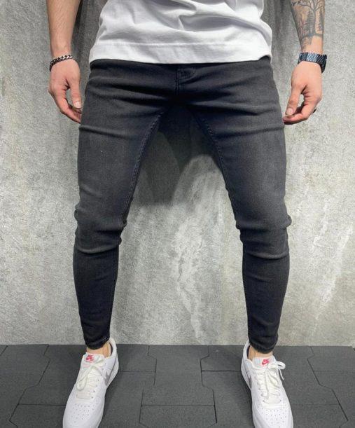 jean skinny noir homme - Mode urbaine b6140