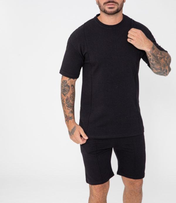 Ensemble t-shirt short noir - mode urbaine