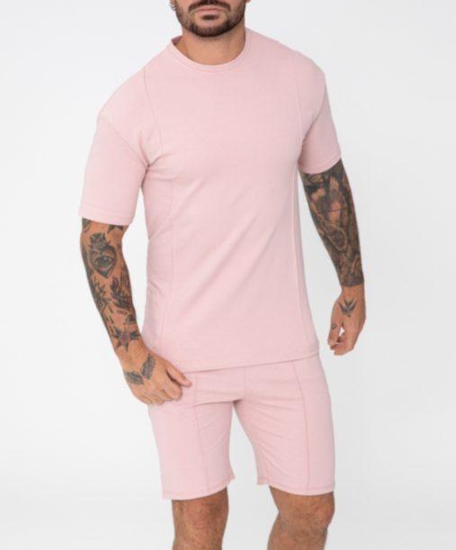 ensemble t-shirt short rose - Mode urbaine
