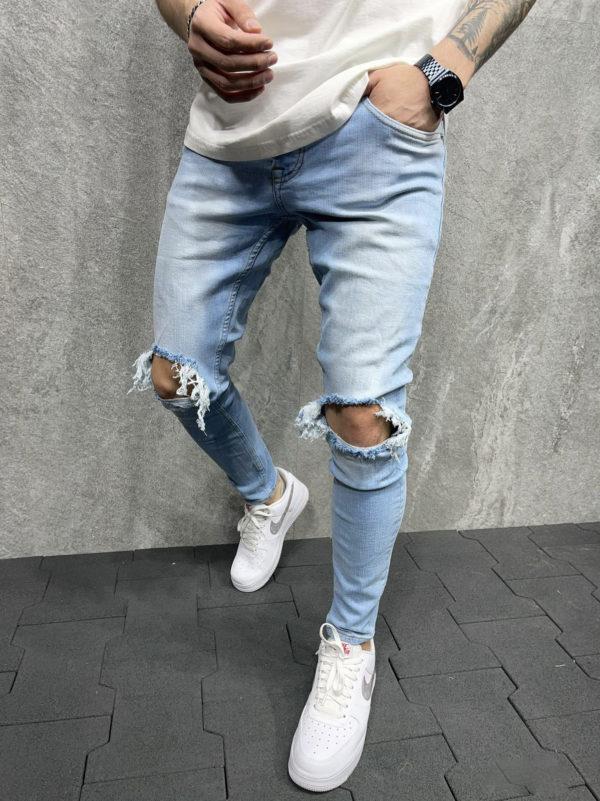 Jean homme destroy bleu – Mode urbaine