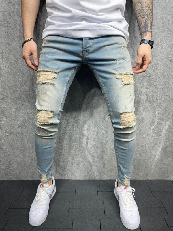 jean skinny destroy - mode urbaine b119-1