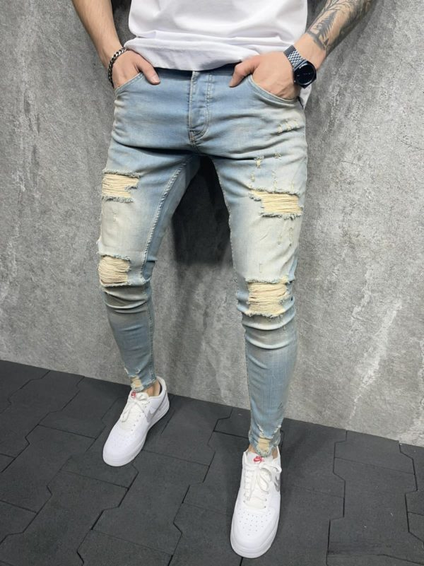 jean skinny destroy - mode urbaine b119-1.