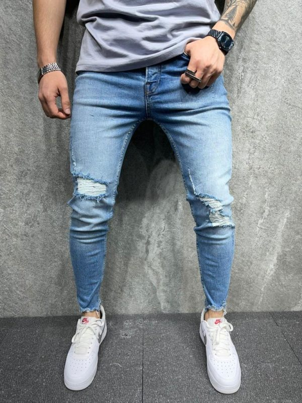 jean skinny bleu - mode urbaine b8098