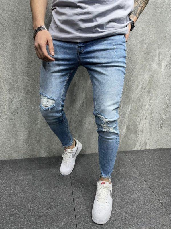 jean skinny bleu - mode urbaine b8098.