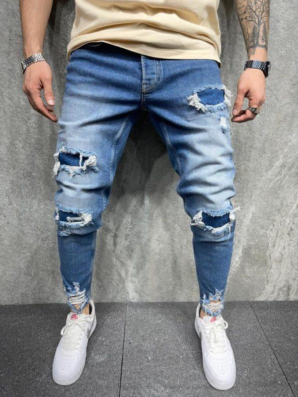 jean homme slim destroy - mode urbaine i0100